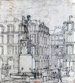 Projet de Fontaine Desaix  à Paris. Source : http://data.abuledu.org/URI/50fc82c6-projet-de-fontaine-desaix-a-paris