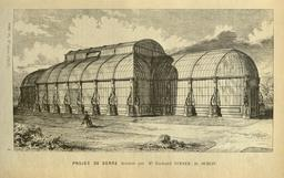 Projet de serre en 1861. Source : http://data.abuledu.org/URI/539cc9c7-projet-de-serre-en-1861