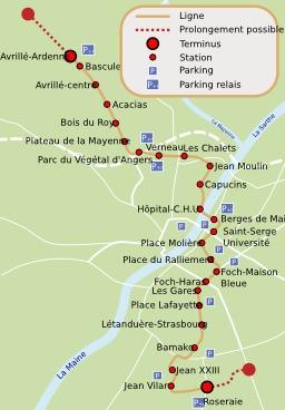 Projet de tramway à Angers. Source : http://data.abuledu.org/URI/50789703-projet-de-tramway-a-angers