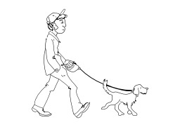 Promener son chien. Source : http://data.abuledu.org/URI/5027859e-promener-son-chien