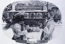 Publicité espagnole de yaourt en 1919. Source : http://data.abuledu.org/URI/53601bfe-publicite-espagnole-de-yaourt-en-1919