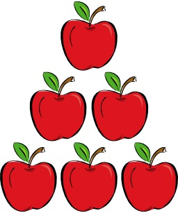 Pyramide de six pommes. Source : http://data.abuledu.org/URI/5338217a-pyramide-de-six-pommes