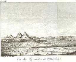 Pyramides de Memphis en 1799. Source : http://data.abuledu.org/URI/591e2dcf-pyramides-de-memphis-en-1799