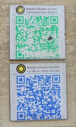 QRcodes du quartier de la cathédrale à Dijon. Source : http://data.abuledu.org/URI/59269e4a-qrcodes-du-quartier-de-la-cathedrale-a-dijon