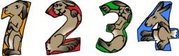 Quatre lapins de 1 à 4. Source : http://data.abuledu.org/URI/58780d89-quatre-lapins-de-1-a-4