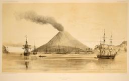 Rade de Banda dans les Moluques en 1838. Source : http://data.abuledu.org/URI/59815dd1-rade-de-banda-dans-les-moluques-en-1838
