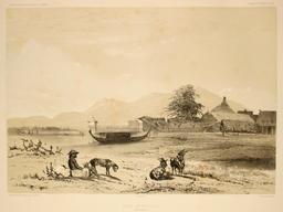 Rade de Ternate dans les Moluques en 1838. Source : http://data.abuledu.org/URI/59810c40-rade-de-ternate-dans-les-moluques-en-1838