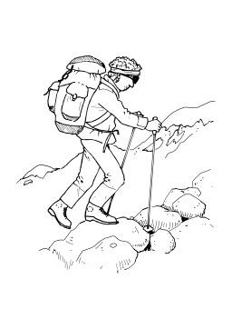 Randonneur en montagne. Source : http://data.abuledu.org/URI/50278742-randonneur-en-montagne