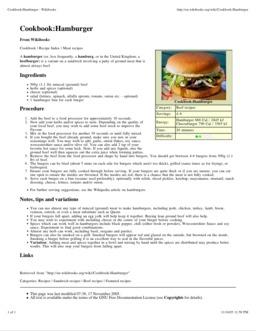 Recette de hamburger. Source : http://data.abuledu.org/URI/51a5c8aa-recette-de-hamburger