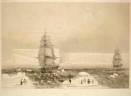 Reconnaissance de la Terre Adélie le 20 janvier 1840. Source : http://data.abuledu.org/URI/598198e8-reconnaissance-de-la-terre-adelie-le-20-janvier-1840