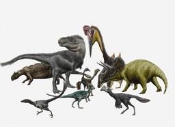 Reconstitution d'animaux préhistoriques. Source : http://data.abuledu.org/URI/5489b597-reconstitution-d-animaux-prehistoriques