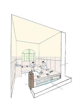 Reconstitution de latrines romaines. Source : http://data.abuledu.org/URI/53bf033c-reconstitution-de-latrines-romaines
