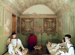Reconstitution de salle à manger romaine. Source : http://data.abuledu.org/URI/56eae907-reconstitution-de-salle-a-manger-romaine