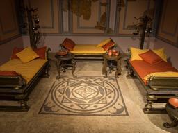 Reconstitution de salle à manger romaine. Source : http://data.abuledu.org/URI/582e96c7-reconstitution-de-salle-a-manger-romaine