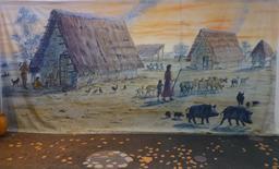 Reconstitution de village gaulois. Source : http://data.abuledu.org/URI/5827ef96-reconstitution-de-village-gaulois-