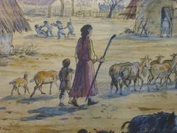 Reconstitution de village gaulois. Source : http://data.abuledu.org/URI/5827efb6-reconstitution-de-village-gaulois-