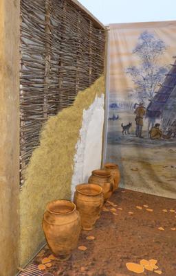 Reconstitution de village gaulois. Source : http://data.abuledu.org/URI/5827f03f-reconstitution-de-village-gaulois-