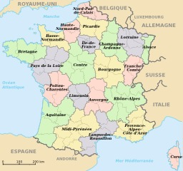 Régions de France métropolitaine. Source : http://data.abuledu.org/URI/50f723e1-regions-de-france-metropolitaine