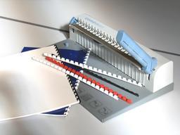 Reliure moderne avec anneaux en plastique. Source : http://data.abuledu.org/URI/512102c3-reliure-avc-anneaux-en-plastique