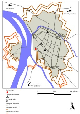 Remparts de Montauban. Source : http://data.abuledu.org/URI/51bacd3d-remparts-de-montauban