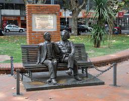 Rencontre entre Einstein et Vaz Ferreira à Montevideo. Source : http://data.abuledu.org/URI/5501df77-rencontre-entre-einstein-et-vaz-ferreira-a-montevideo