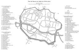 Rennes au début du XVIIème siècle. Source : http://data.abuledu.org/URI/51d1ab6b-rennes-au-debut-du-xviieme-siecle