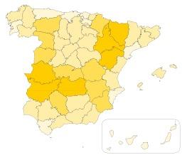 Répartition des troupeaux d'ovins en Espagne. Source : http://data.abuledu.org/URI/51e085e7-repartition-des-troupeaux-d-ovins-en-espagne