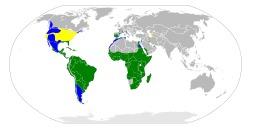 Répartition mondiale du héron garde-beufs. Source : http://data.abuledu.org/URI/5543cef8-repartition-mondiale-du-heron-garde-beufs