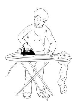 Repasser le linge. Source : http://data.abuledu.org/URI/50278a85-repasser-le-linge