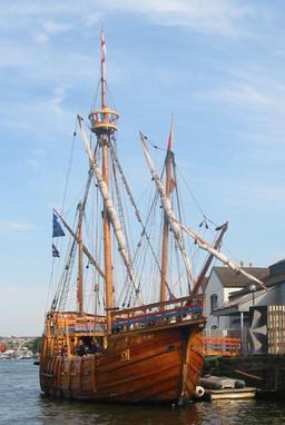 Réplique d'un trois-mâts à Bristol. Source : http://data.abuledu.org/URI/5654c598-replique-d-un-trois-mats-a-bristol