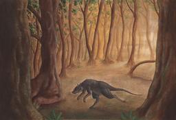 Représentation d'un Lepticis préhistorique. Source : http://data.abuledu.org/URI/53bacc13-representation-d-un-lepticis-prehistorique