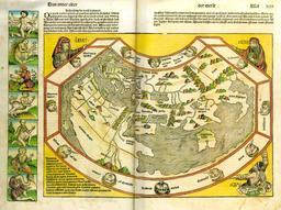Représentation du monde au XVème siècle. Source : http://data.abuledu.org/URI/52952d18-representation-du-monde-au-xveme-siecle