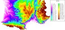 Représentation du relief du sud de la France. Source : http://data.abuledu.org/URI/52370b53-representation-du-relief-du-sud-de-la-france