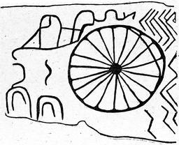 Représentation solaire sur un dolmen. Source : http://data.abuledu.org/URI/591babff-representation-solaire-sur-un-dolmen