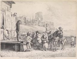 Représentation théâtrale en 1657. Source : http://data.abuledu.org/URI/53b1417a-representation-theatrale-en-1657