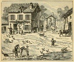 Reprise d'activité à la ferme après 1870. Source : http://data.abuledu.org/URI/524f1d92-reprise-d-activite-a-la-ferme-apres-1870