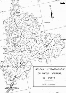 Réseau hydrographique du Wouri. Source : http://data.abuledu.org/URI/52daa689-reseau-hydrographique-du-wouri