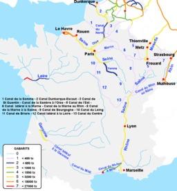 Réseau navigable en France. Source : http://data.abuledu.org/URI/5277a592-reseau-navigable-en-france