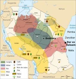 Ressources agricoles de la Tanzanie. Source : http://data.abuledu.org/URI/5070567c-ressources-agricoles-de-la-tanzanie