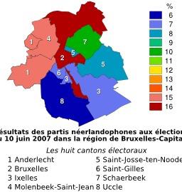 Résultats des élections autour de Bruxelles en 2007. Source : http://data.abuledu.org/URI/51cddd18-resultats-des-elections-autour-de-bruxelles-en-2007