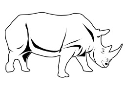Rhinocéros. Source : http://data.abuledu.org/URI/52ed880f-rhinoceros