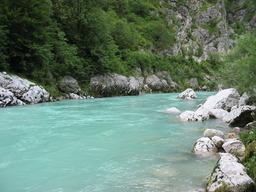 Rivière en Slovénie. Source : http://data.abuledu.org/URI/502115e5-riviere-en-slovenie