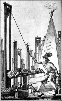 Robespierre exécutant le bourreau. Source : http://data.abuledu.org/URI/50afc48a-robespierre-executant-le-bourreau
