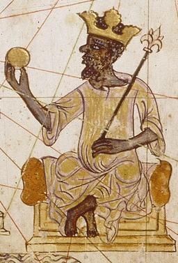 Roi africain au XIVème siècle. Source : http://data.abuledu.org/URI/5068b5ca-roi-africain-au-xiveme-siecle