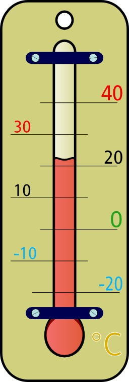 Thermomètre d'intérieur. Source : http://data.abuledu.org/URI/527ca1a3-room-thermometer-celsius
