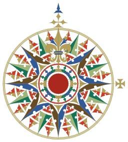 Rose des vents de la Renaissance. Source : http://data.abuledu.org/URI/50d6e397-rose-des-vents-de-la-renaissance