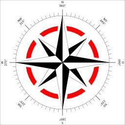 Rose des vents et correspondances angulaires. Source : http://data.abuledu.org/URI/50d6c921-rose-des-vents-et-correspondances-angulaires