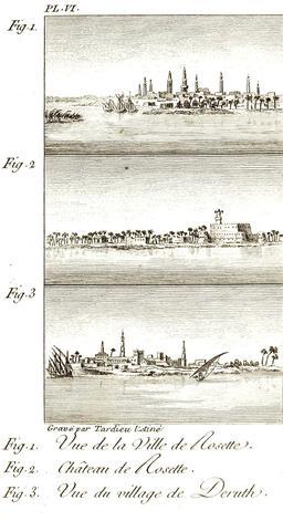 Rosette et Deruth en 1799. Source : http://data.abuledu.org/URI/591c86a7-rosette-et-deruth-en-1799