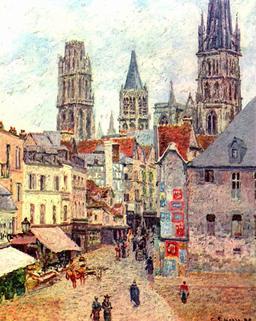 Rouen, rue de l'épicerie. Source : http://data.abuledu.org/URI/516db7a7-rouen-rue-de-l-epicerie