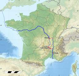 Route antique de l'étain en Gaule romaine. Source : http://data.abuledu.org/URI/554fa0ef-route-antique-de-l-etain-en-gaule-romaine